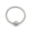 Painful Pleasures UR595-anod 20g Annealed Titanium Fixed Bead Ring - Price Per 1
