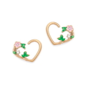 Painful Pleasures UR660-pair 16g Floral Vine PVD Gold Bendable Heart Ear Jewelry - Price Per 2