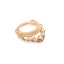 Painful Pleasures UR673 16g PVD Gold Crystal Majesty Septum Clicker