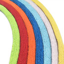 93 Yards Flat Cotton Tape Drawcord Ribbon Hollow Cord 10mm Cotton Rope for Clothes Waist Cap Rope