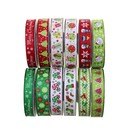 25 Yards Christmas Ribbons Grosgrain Holiday Thermal Transfer 7/8