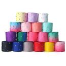 50 Yards Rhinestone Grosgrain Ribbons Christmas Holiday Thermal Transfer Webbing Diamond Sewing DIY Decor