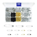 700 Pcs Safety Pin Assorted Set Metal Nickel-plated Steel Pin Small Clothing Office Supplies