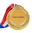 30 Pcs Custom Award Medals Metal with Ribbon Class Medal 2.5 inches Logo Text Print