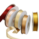 100 Yards Gold Metallic Ribbon Decoration Silver Webbings for Party Wedding Baby Shower