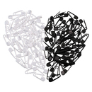 100 Pcs Plastic Safety Pins Exquisite Small Clothing Accessories 1