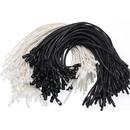 1000 Pcs Wax Cord Hang Tag String Snap Lock Pin Loop Fastener Hook Ties for Clothing Price Tag Hanging Rope Lanyard Cord