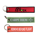 Personalized Keychain with Ring Embroidered 500 Pieces Custom Key Tag Patches Label Lanyards Strap