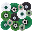 Aspire Party Hanging Paper Fans Set Round Paper Garlands Decoration Accessories For Events