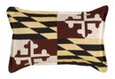 Simply Home Maryland Flag Small Tapestry Pillow (P80-004)