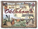 Simply Home State Of Oklahoma Tapestry Throw (RTP025389)