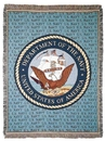 Simply Home Navy Full Size Tapestry Throw (RTP029844)