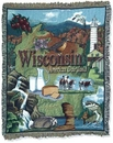 Simply Home State Of Wisconsin Tapestry Throw (RTP052118)