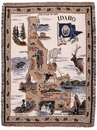 Simply Home State Of Idaho Tapestry Throw (RTP121199)