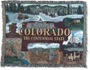 Simply Home State Of Colorado Tapestry Throw (RTP252754)