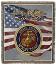 Simply Home U.S. Marines Tapestry Throw (TPM911)