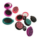 Mon Image 1189 Pop-Up Hair Brush W/ Mirror, 0.099 oz.