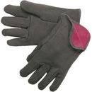 Cotton Jersey Gloves (Red Fleece Lined, Open Wrist)