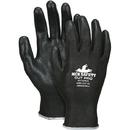 MCR Safety Cut Pro PU Coated Gloves w/ HPPE Shell, 13 ga, Black