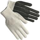 Memphis 7-Gauge Natural Cotton/Polyester Black PVC Palm Coated Gloves, Large