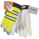 MCR Safety Thermosock Lined Luminator Lined Goatskin Leather Multi-Task Gloves