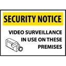 Security Notice Video Surveillance..., Rigid Plastic, 14