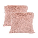 TOPTIE Set of 2 Soft Long Faux Fur Throw Pillowcases, Luxury Decorative Cushion Cover
