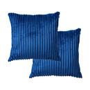 TOPTIE Set of 2 Corduroy Striped Pillow Cases, 18