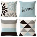 TOPTIE Set of 4 Geometric Throw Pillow Cover 18
