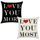 TOPTIE Set of 2 Valentines Throw Pillow Covers 18