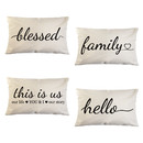 TOPTIE Set of 4 Farmhouse Pillow Covers with Quote 12