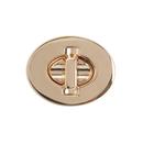 TOPTIE 10 Sets Oval Twist Turn Lock Purse Locks Clutches Closures DIY Craft Accessory