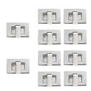 TOPTIE 100 Sets Turn Lock Clasp 27 x 17mm, Rectangle Purse Twist Lock Purse Making Supplies