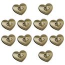 TOPTIE 100 Sets Twist Turn Lock 30 x 28mm, Heart-Shaped Fastener for Handbag Purse Closure