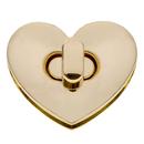 TOPTIE 10 Sets Purse Twist Turn Lock Heart-shaped Fastener Craft Accessory Purse Making Supplies