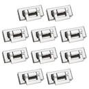 TOPTIE 100 Sets Handbag Turn Clasp Closure 45 x 20mm, Rectangle Twist Turn Lock Fastener
