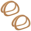TOPTIE 4Ps Wooden D-Shaped Handles Replacement for Handmade Bags, Crocheted Handbags