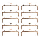 TOPTIE 10Pcs Metal Frame Kiss Clasp Lock, 20cm/ 8inch Square Purse Making Frame