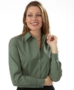 Van Heusen 13V114 Ladies' Long Sleeve Silky Poplin