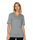 American Apparel 24321ORGW Unisex Organic Fine Jersey Classic V-Neck Tee