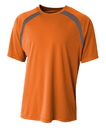 A4 N3001 Adult Spartan Short Sleeve Color Block Crew