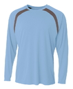A4 N3003 Adult Spartan Long Sleeve Color Block Crew