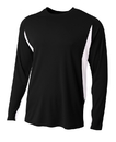 A4 N3183 Adult Long Sleeve Cooling Performance Color Block Tee