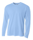 A4 N3253 Adult Birdseye Mesh Long Sleeve Tee