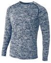 A4 N3305 Adult Space Dye Long Sleeve Performance Tee