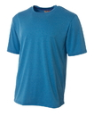 A4 N3381 Adult Topflight Heather Tee