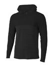 A4 N4013 Adult Slate Long Sleeve 1/4 Zip Color Block Hood