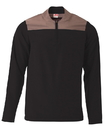A4 N4014 Adult Element Long SLeeve Color Block 1/4 Zip Jacket