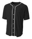 A4 N4184 Adult Full Button Baseball Jersey
