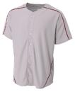 A4 N4214 Adult Warp Knit Baseball Jersey